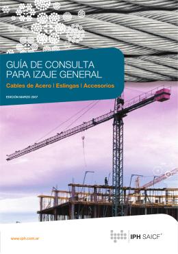 GUÍA DE CONSULTA PARA IZAJE GENERAL