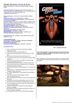gear school plug & play - Ministerio de Educación, Cultura y Deporte