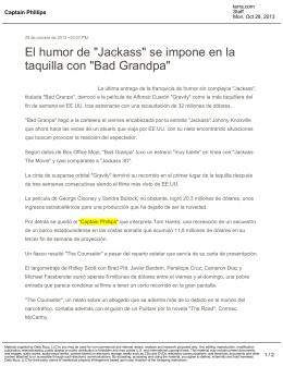 """El humor de """"Jackass"""" se impone en la taquilla con """"Bad Grandpa"""""""
