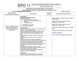 EPO 11 ESCUELA PREPARATORIA OFICIAL NÚM. 11
