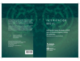INTERVENCIÓN BREVE - World Health Organization