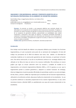 sinusoides y circunferencias: análisis y propuesta didáctica