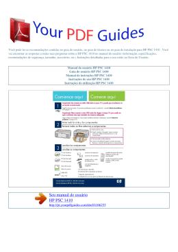 Manual de instruções HP PSC 1410