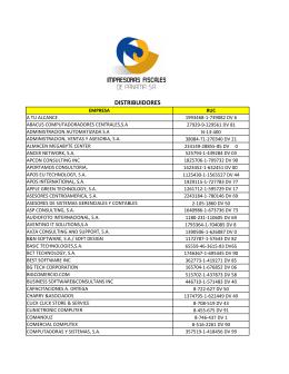DISTRIBUIDORES - Impresoras Fiscales de Panamá