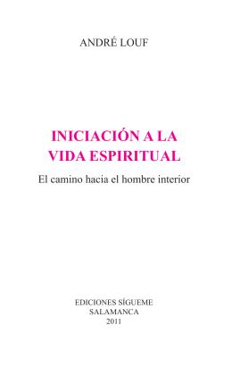 INICIACIÓN A LA VIDA ESPIRITUAL