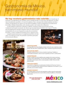 Gastronomía de México, patrimonio mundial