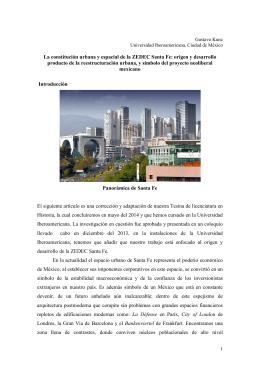 La constitución urbana y espacial de la ZEDEC Santa Fe: origen y