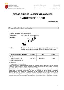 El riesgo químico del cianuro de sodio