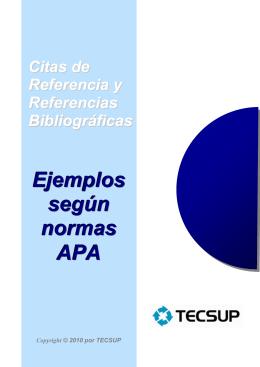 Ejemplos según normas APA