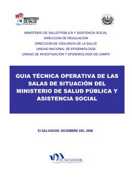 guia técnica operativa de las salas de situación del ministerio de