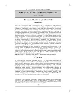 1.R Impacto del NAFTA en el Comercio