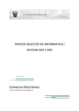 Comercio Electrónico - Universidad de Guadalajara