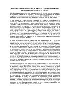 REFORMA Y GESTIÓN INTEGRAL DEL ALUMBRADO EXTERIOR