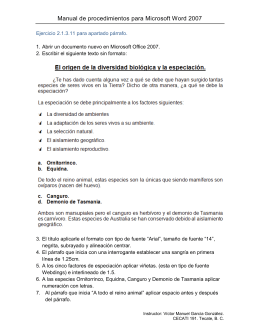 Manual de procedimientos para Microsoft Word 2007