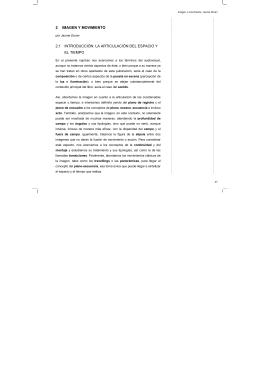 2 IMAGEN Y MOVIMIENTO 2.1 INTRODUCCIÓN