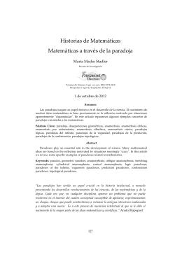 Historias de Matemáticas - Matemáticas a través de la paradoja