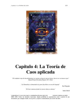 Capítulo 4: La Teoría de Caos aplicada