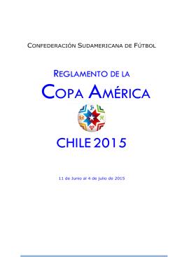 Reglamednto copa america chile 2015
