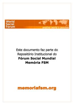 Fórum Social Mundial Memória FSM