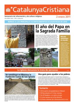 El año del Papa en la Sagrada Familia