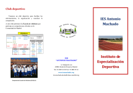 IES Antonio Machado Instituto de Especialización Deportiva