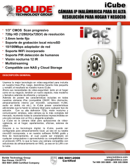 cámara ip inalámbrica para de alta resolución para hogar y negocio