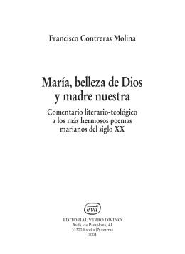 María, belleza de Dios y madre nuestra