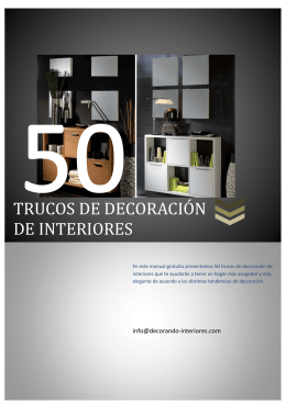 TRUCOS DE DECORACIÓN DE INTERIORES