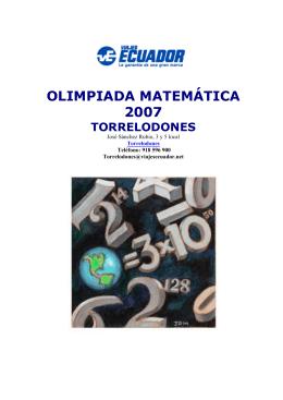 olimpiada matemática 2007 torrelodones