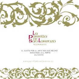 Catálogo de La Parrilla de San Lorenzo
