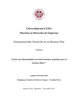 Desarrollo de un Business Plan