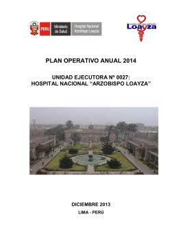 plan operativo anual 2014 - Hospital Nacional Arzobispo Loayza