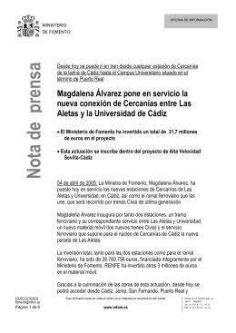 Las Aletas Universidad - Ministerio de Fomento