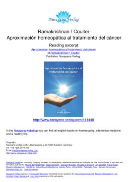 Ramakrishnan / Coulter Aproximación homeopática al tratamiento