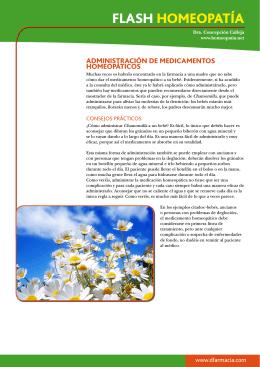 Administración de medicamentos homeopáticos