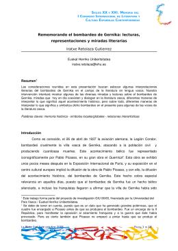Rememorando el bombardeo de Gernika: lecturas