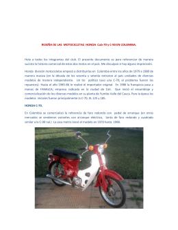 RESEÑA DE LAS MOTOCICLETAS HONDA Cub-70 y C