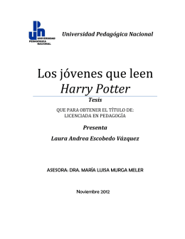 Los jóvenes que leen Harry Potter