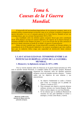 Tema 6. Causas de la I Guerra Mundial.