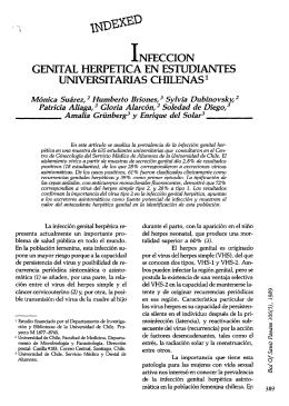 1 nfeccion genital herpetica en estudiantes universitarias chilena!?