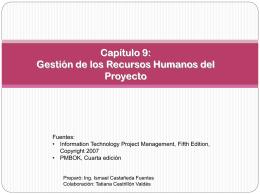 Gestión de los Recursos Humanos del Proyecto