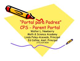 """Portal para Padres"" CPS - Parent Portal"
