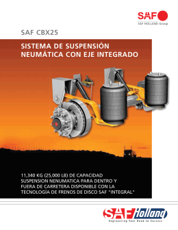 sistema de suspension neumatica con eje integrado
