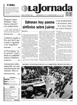 Estrenan hoy poema sinfónico sobre Juárez