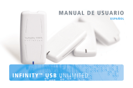 infinitytm usb unlimited manual de usuario