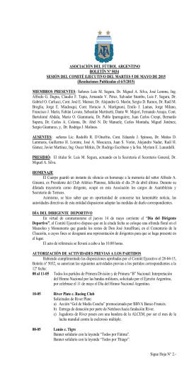 Sigue Hoja N° 2.- ASOCIACIÓN DEL FÚTBOL ARGENTINO