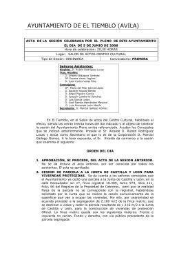 AYUNTAMIENTO DE EL TIEMBLO (AVILA)