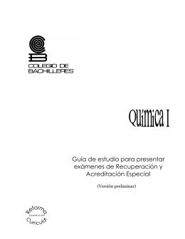 Quimica I (Plantel 17)