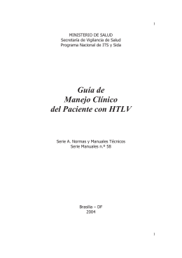 Guía de Manejo Clínico del Paciente con HTLV