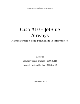Caso #10 – JetBlue Airways